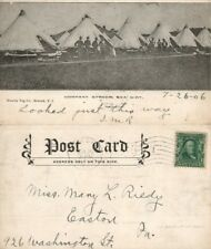 SEA GIRT N.J. COMPANY STREET UNDIVIDED 1906 ANTIQUE POSTCARD