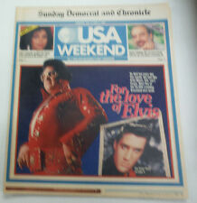 USA Weekend Magazine Elvis Presley & Janet Jackson August 1987 081315R2