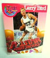 Fruit Snackers 1991 Larry Bird Vtg All Star Fruit Snacks Basketball  empty box