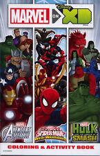 Avengers, Spiderman and Hulk coloring book RARE UNUSED DISNEY XD