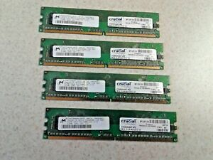 2GB SET - MICRON CRUCIAL 512MB X 4 PC2-5300U DDR2 DESKTOP MEMORY - 4 PCS @ 512