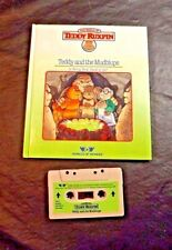Teddy Ruxpin bear tape cassette  and 1985 book TEDDY AND THE MUDLUPS WOW