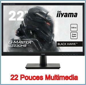 Ecran Pc - Moniteur 22 pouces - Led - Multimedia - Neuf