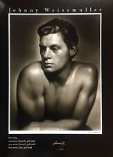 George Hurrell, Johnny Weissmuller, hand signed, Ltd. Ed. photolithograph