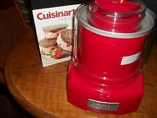 Clean Cuisinart Frozen Yogurt-Ice Cream & Sorbet Maker Ice-20+Recipe Booklet