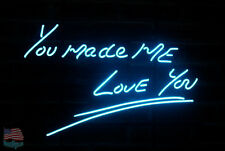 "You Made Me Love You Light Blue Art Neon Sign 20""x16"" From Usa"