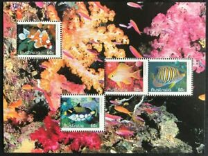 2010 Australia Fishes Of The Reef Mini Sheet, Found In Year Book, MNH, Clean