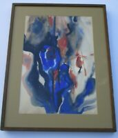 LARGE MODERNIST PAINTING ABSTRACT NON OBJECTIVE 1960'S SIGNED MYSTERY ARTIST
