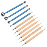 Meuxan 10 Piece Dotting Tools Ball Styluses for Rock Painting, Pottery Clay Art
