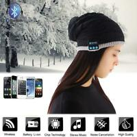 New Beanie Hat Wireless Bluetooth Smart Soft Warm Headset Headphone Speaker B