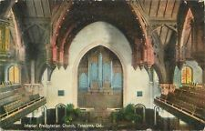 Pasadena California~Interior Presbyterian Church~Pipe Organ~1914 Postcard