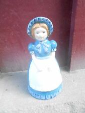 Vintage Piggy Bank - Lady In Blue Dress advertising (S21C)