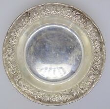 S. KIRK & AND SON INC STERLING SILVER REPOUSSE 407 A DISH BOWL WINE COASTER BON