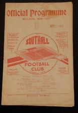 Teams S-Z Football Non-League Fixture Programmes (Pre-1950)