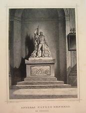 Andreas Hofer  Denkmal Innsbruck  Österreich  echter alter Stahlstich  1844