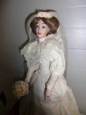 "Lennox 25"" Porcelain Victorian Bride Doll ~ NIB"