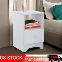 Assemble Storage Cabinet Bedroom Bedside Locker Single Drawer Bedside Table