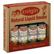 """COLGIN LIQUID SMOKE GIFT BOX"" - Hickory, Mesquite, Apple and Pecan 4oz Bottles"
