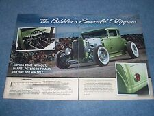 "1930 Ford Model A 5-Window Coupe Hot Rod Article ""The Cobbler's Emerald Slippers"