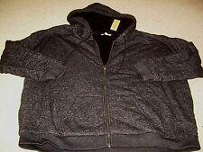 AMERICAN EAGLE Black Knit Sherpa Fur Lined Hoodie Jacket XL XXL NWT FREE SHIP