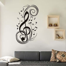 Large Music Notes Wall Sticker Removable Vinyl Art Decals Room Bedroom Black DIY