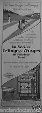 PUBLICITÉ 1927 LE LINGE DES VOSGES DE GÉRARDMER - ADVERTISING