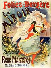 AP43 Vintage French Folies-Bergere Cheret Advertisement Poster A1//A2//A3//A4