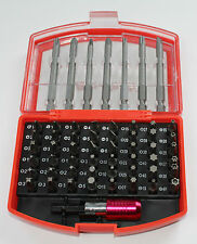 56 PIECE ASSORTED BIT SET WITH HOLDER PHILLIPS POZI HEX SLOTTED TORX WITH CASE