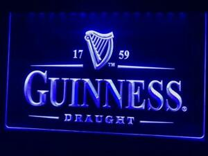 Guinness Led Neon Irish Bar Sign Home Light Up Pub Beer Quality Draught Stout