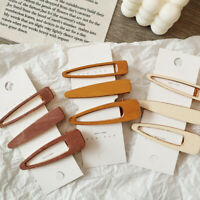 1X Hollow Geometric Hair Clip Pin Handmade Wooden Hairpins Barrettes Women Girl