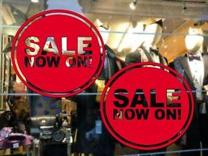 2 x Round Sale Signs Shop Window Vinyl Sticker Retail Decals POS