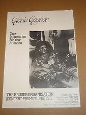 Gloria Gaynor - August/September 1982 UK Tour Itinerary