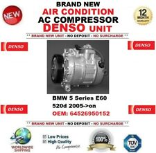 DENSO AIR CONDITION AC COMPRESSOR for BMW 5 E60 520d 2005->on OEM: 64526950152