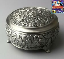 Tin Alloy Circle Shape Music Box : Once Upon A December