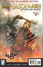 Freddy vs Jason vs Ash #1 Signed Arthur Suydam Tom Morga Linderman Freeburg