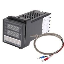 Dual Digital F / C PID Temperature Controller with K Thermocouple M2D2