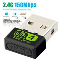150Mbps Free Driver USB Wireless Adapter WiFi Receiver Dongle Network Card    US