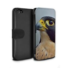 PU Leather Case/Wallet for Apple iPhone 4/4S/Birds of Prey/Peregrine Falcon
