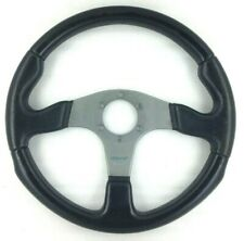 Genuine Momo Race black leather 350mm steering wheel. Classic Retro.   7A