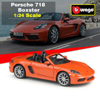 New in Box Diecast Alloy Model Car 1:24 Scale Porsche 718 Boxster By BBURAGO