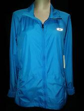 NWT OAKLEY Womens Full Zip Front Windbreaker Jacket Coat Sz Large Polyester Blue