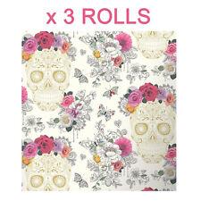 Rasch Wallpaper - Floral Rose Heart Sugar Skull 278026