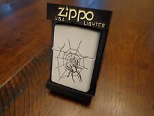 GLOW IN THE DARK PAINT BAT BOO SPIDER ZIPPO LIGHTER MINT IN BOX 2000 RARE