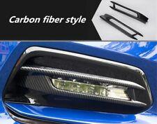 Carbon fiber Exterior Front Fog Light Lamp Cover Trim For Honda Accord 2018-2019