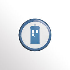 "Minimalist Dr Who Tardis (Doctor Who) 1"" TV Pinback Button / Pin / Badge"