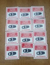Video Surveillance closed circuit Cctv Warning Sticker (3x3in )set of 12 pcs