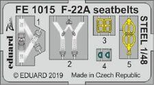 Eduard Zoom FE1015 1/48 Lockheed-Martin F-22A seatbelts STEEL Hasegawa