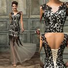 Sexy Lace Applique Long Dress Formal Evening Party Cocktail Bridesmaid Dresses