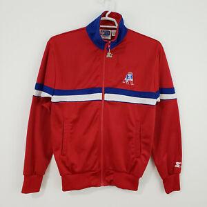 Vintage Starter Men's New England Patriots Red Zip Up Jacket Medium 70s 80s NFL