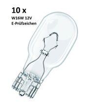 10x W16W 12V/16W W2.1x9.5d Glassockellampe T15 Birne PKW/KFZ E-Prüfzeichen Auto